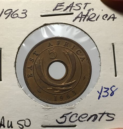 1963 East Africa - 5 Cents