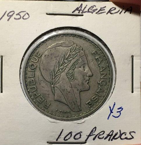 1950 Algeria - 100 Francs