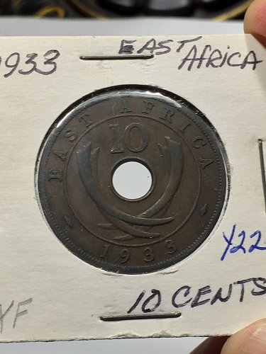 1933 East Africa 10 Cents