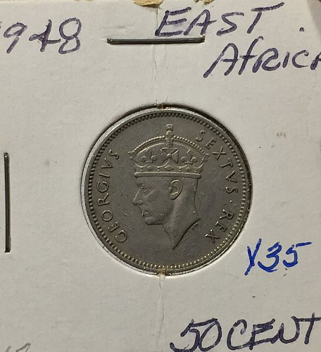 1948 East Africa 50 Cents