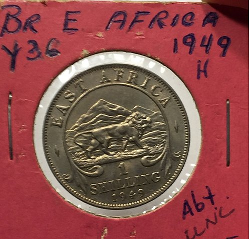 1949 H East Africa 1 Shilling