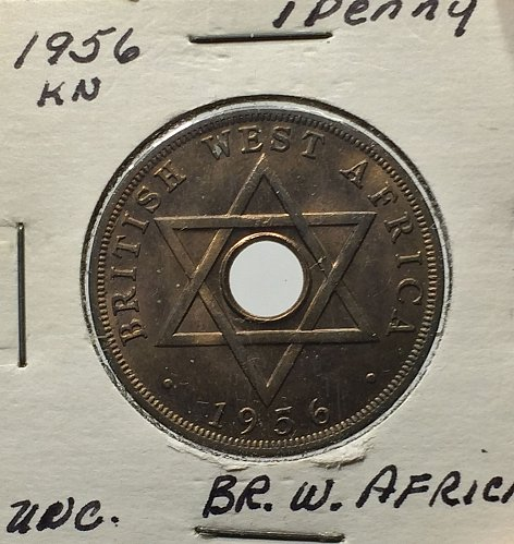 1956KN BR. West Africa 1 Penny