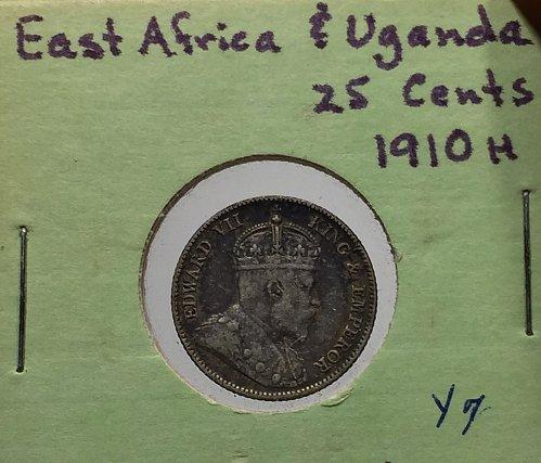 1910H East Africa & Uganda 25 Cents