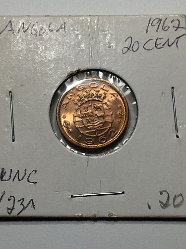 1962 Angola 20 Centavos