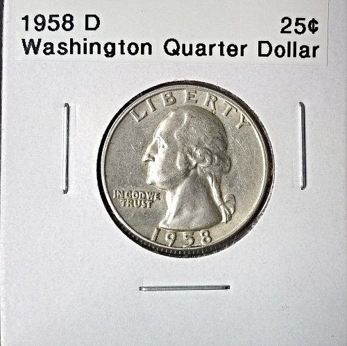 1958 D Washington Quarter Dollar