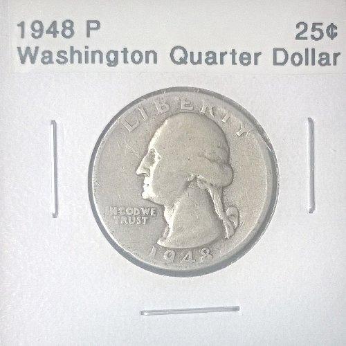 1948 P Washington Quarter Dollar