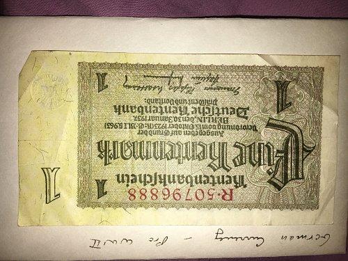 Pre World War 2 German currency