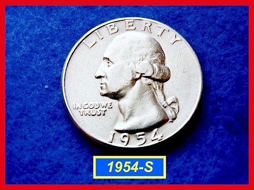 1954-S Washington SILVER Quarter   (#2239)