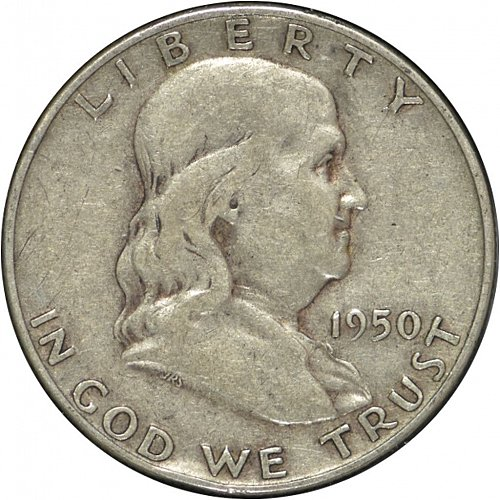 1950 D Franklin Half Dollar,  (Item 328)