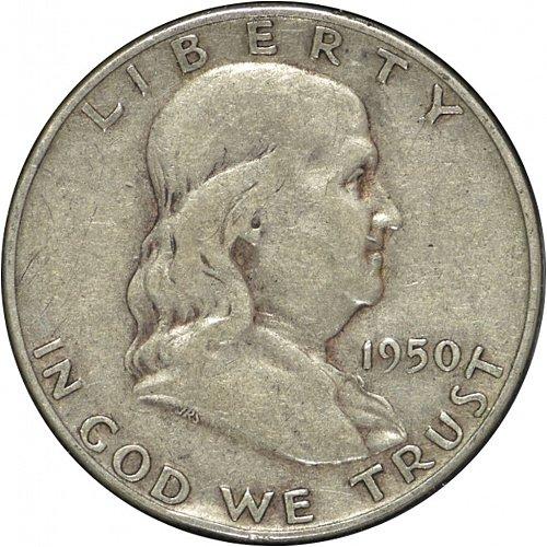 1950 D Franklin Half Dollar,  (Item 328)
