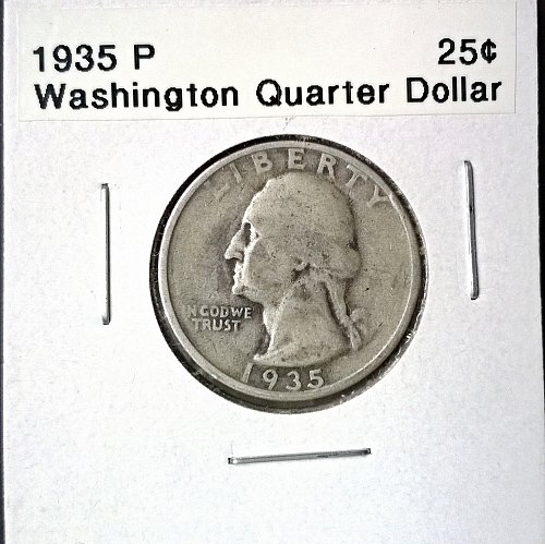 1935 P Washington Quarter Dollar