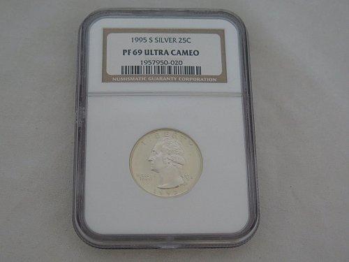 1995-S Washington Quarter Silver Proof NGC PF 69 DCAM
