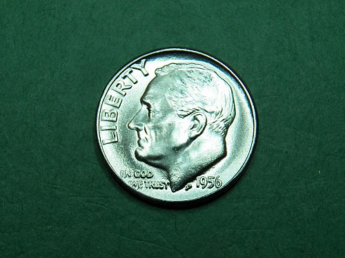 1956 P Roosevelt Dime Gem Uncirculated Coin   i28