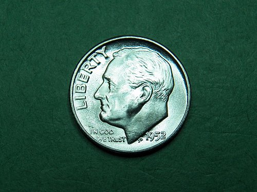 1952 P Roosevelt Dime Brilliant Uncirculated Coin   i23
