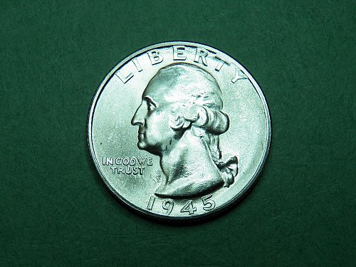 1945 S Washington Quarter Gem Uncirculated Coin   i33