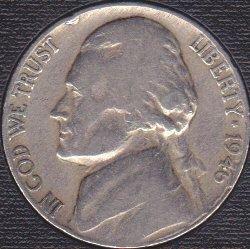 1946 P Jefferson Nickel