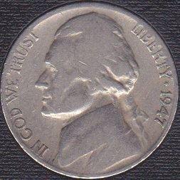 1947 S Jefferson Nickel