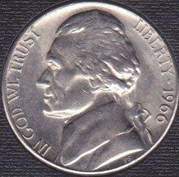 1966 P Jefferson Nickel
