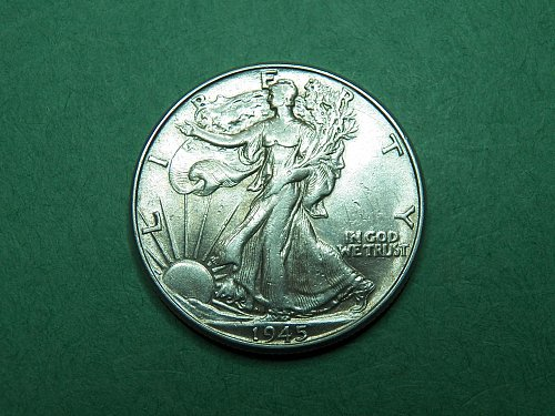 1945 P Walking Liberty Half Dollar Extra Fine Coin   i38
