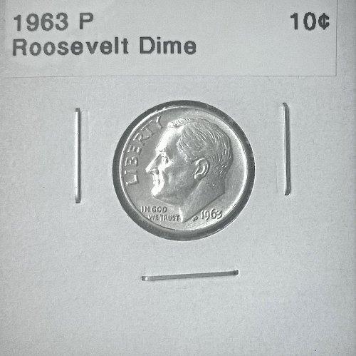 1963 P Roosevelt Dime - 4 Photos!