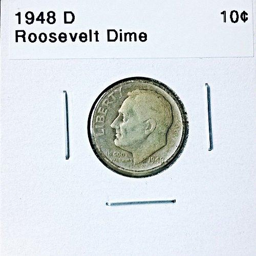 1948 D Roosevelt Dime