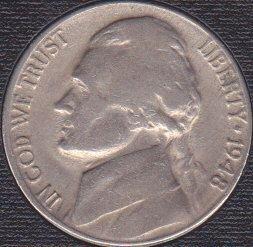 1948 D Jefferson Nickel
