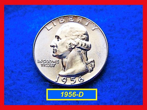 "1956-D   ""UNC"" Washington Quarter ••• (#2366)"