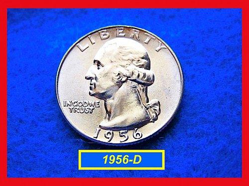 """1956-D   """"UNC"""" Washington Quarter ••• (#2366)"""