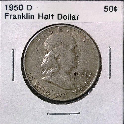 1950 D Franklin Half Dollar - 4 Photos!