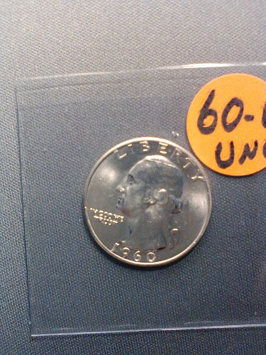 UNC 1960-D SILVER WASHINGTON QUARTER