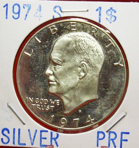 1974 S Eisenhower Dollar <Silver 40%>