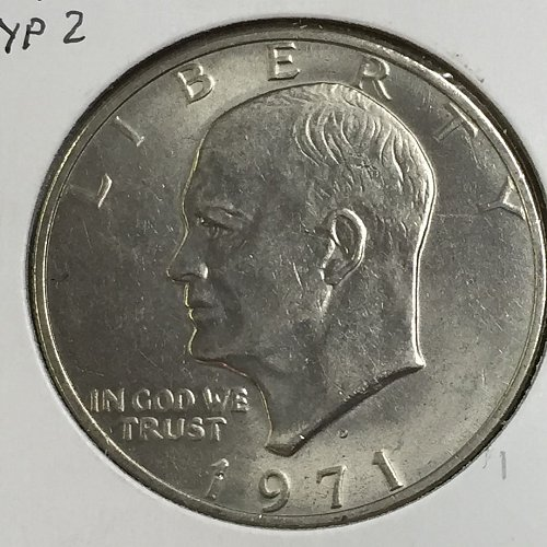 1971-D Type 2 Eisenhower Dollar (40002)