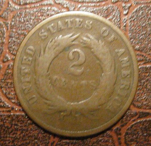 1868 TWO CENT PIECE, 2 CENT PIECE
