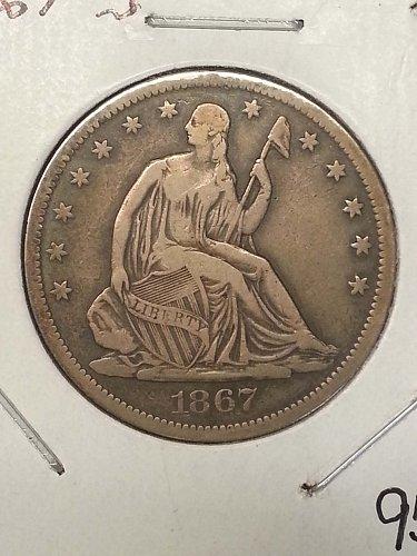 1867-S Seated Liberty Half
