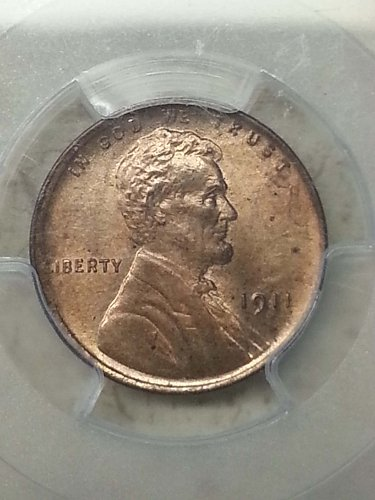1911 Lincoln Cent - PCGS MS64RD