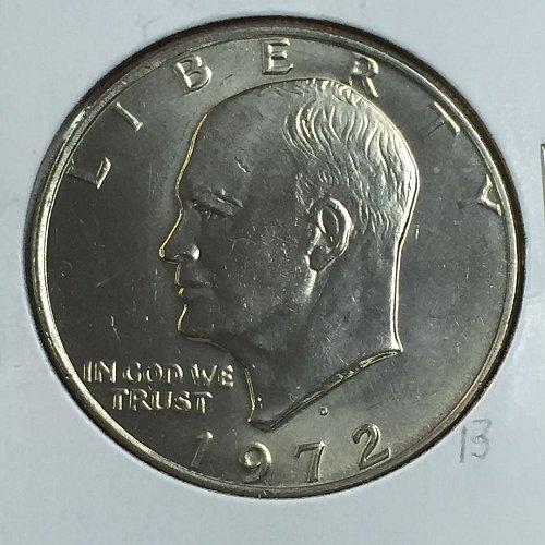 1972-D Eisenhower Dollar (40015)