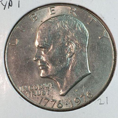 1976-D Type 1 Eisenhower Dollar (40025)