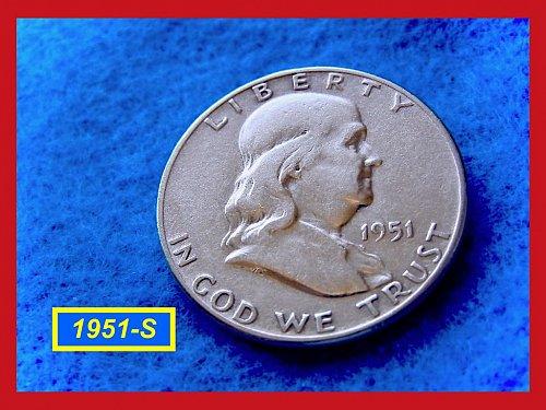 "1951-S  Franklin Half Dollar ––– ""VF-30""  Condition   (#1528)"