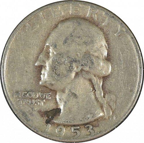 1953 S Washington Quarter,  (Item 346)