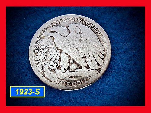 "1923-S  Liberty Walking Half Dollar ––– ""Circulated""  (1575a)"