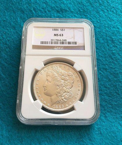 1886 Morgan Silver Dollar MS63
