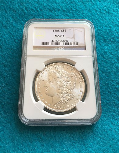 1888 Morgan Silver Dollar MS63
