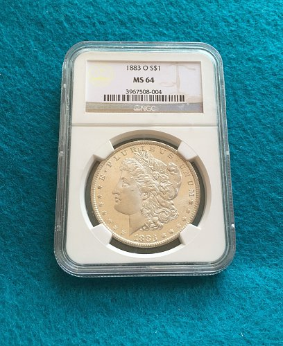 1883-O Morgan Silver Dollar MS64