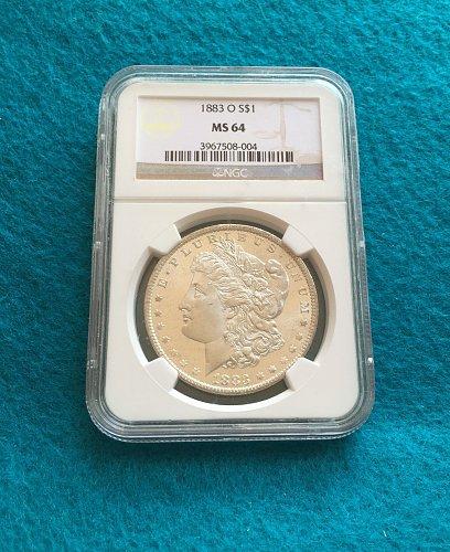 1883-O Morgan Silver Dollar MS64