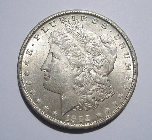 1902 O MORGAN SILVER DOLLAR, NICE B.U. MS
