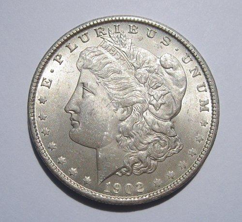1902 O MORGAN SILVER DOLLAR, NICE B.U. MS