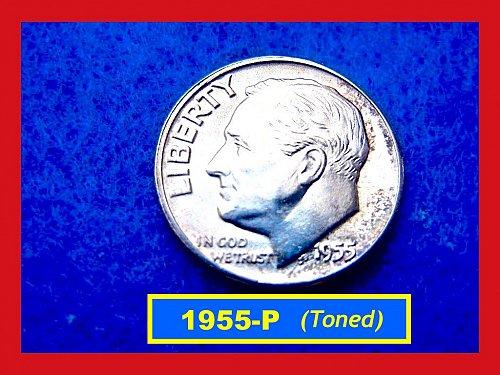 1955-P Roosevelt Dime  Silver Dime   (#3367)