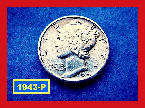 1943-P  Mercury Dime   🎯   (#3368)