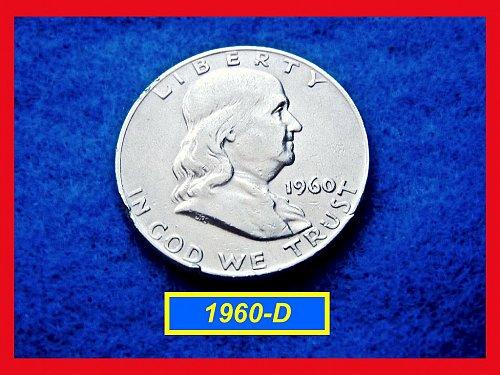 1960-D  Franklin Half Dollars ––– Circulated    (#1572)