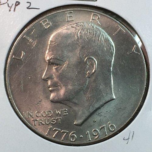 1976-D Type 2 Eisenhower Dollar (40090)